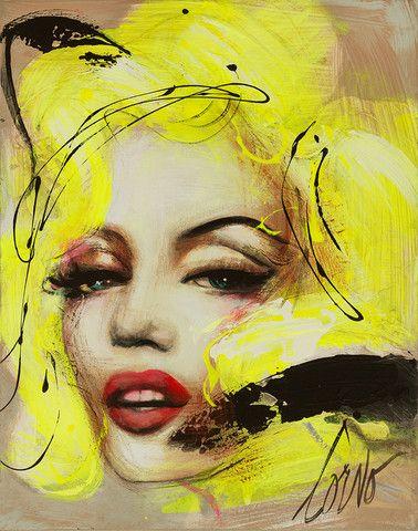 "Corno Portraits | Corno E-Store Marilyn 23 (P062) 30"" x 24"" Mixed Media on Canvas"