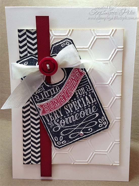 The black and white and red is lovely!  Chalk talk and framelits plus modern medley DSP.