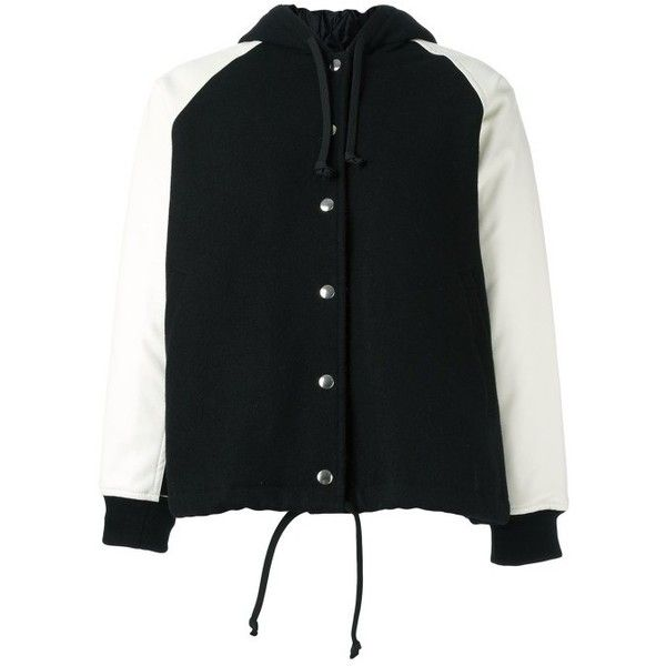 Comme Des Gar Ons Hooded Jacket ($909) ❤ liked on Polyvore featuring tops, hoodies, comme des garçons, comme des garcons top and hooded top