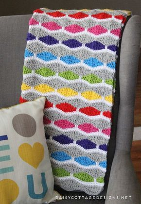 Bright And Fun Afghan By Lauren Brown - Free Crochet Pattern - (ravelry)