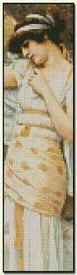 Yes Bookmark - John William Godward Fine art cross stitch pattern. Color chart available. http://www.artofstitching.com/index.php?main_page=product_info&cPath=45_134&products_id=1021