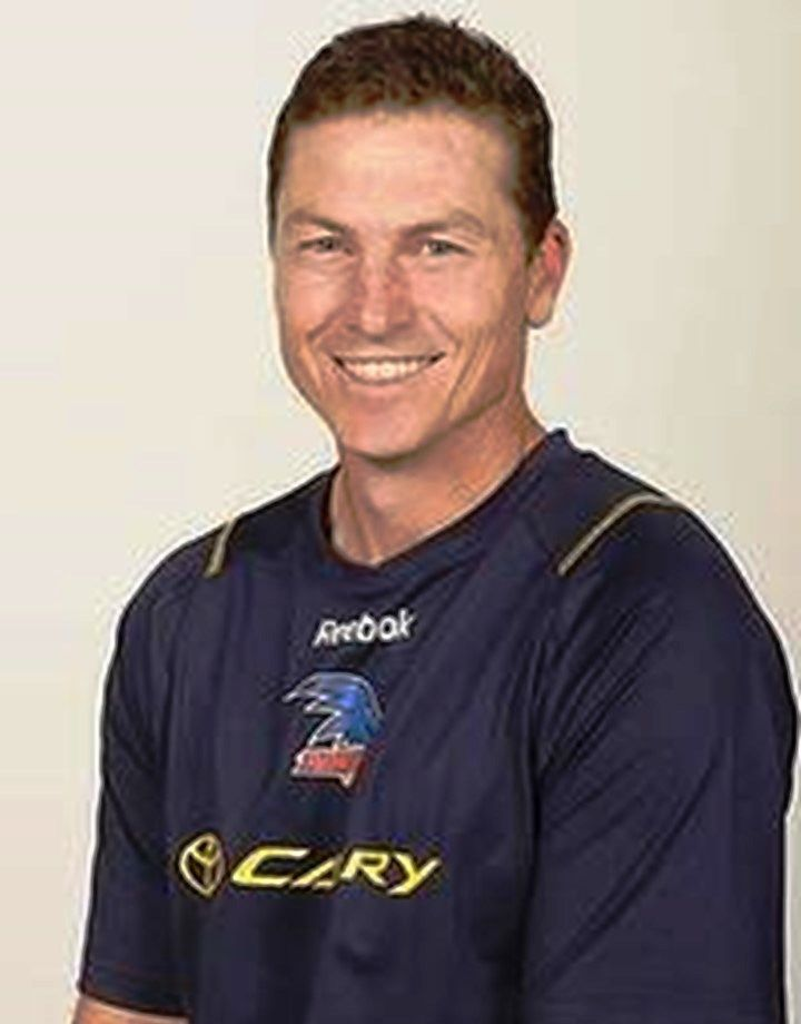 Mark Bickley. Played 1989-2003. Games South Adelaide 53, Adelaide (AFL) 272. Premiership player and captain Adelaide 1997, 1998.