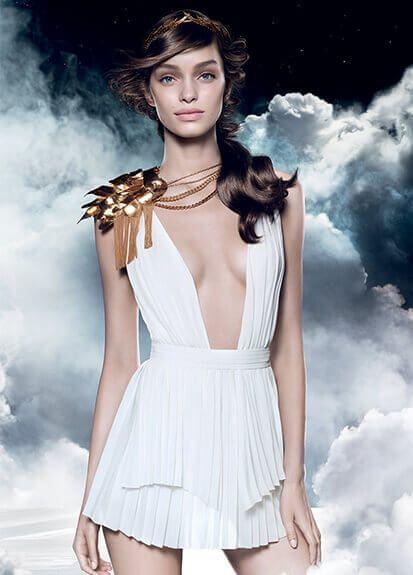 Luma Grothe is the embassador of Olympéa by Paco Rabanne. A modern day goddess…