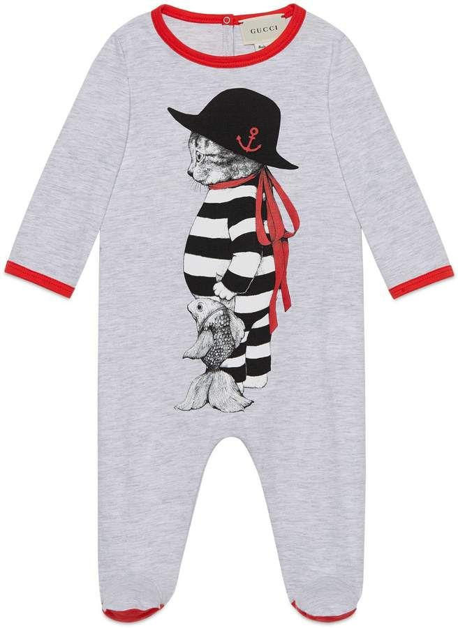 94eef5cb173e Gucci Baby sleepsuit with sailor cat print