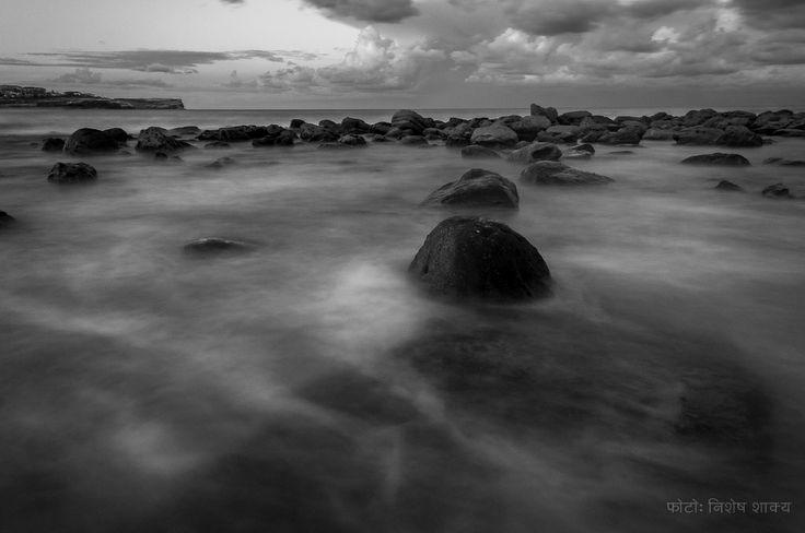 Rocks at Maroubra beach, Sydney.