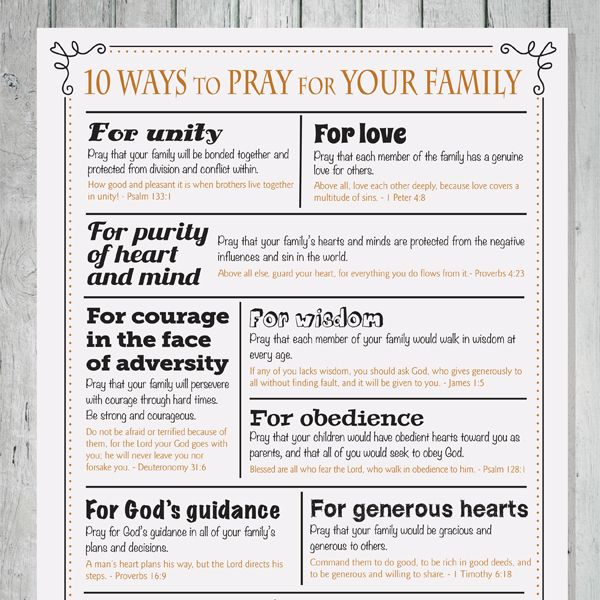 iMOM 10 Ways to Pray for Your Family