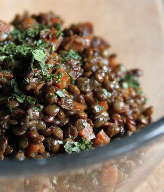 Salade tiède de lentilles (au cuiseur à riz)
