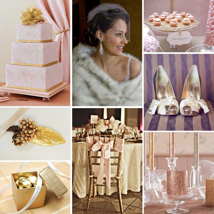 #Pink & #Gold Winter #Wedding #Inspiration #color