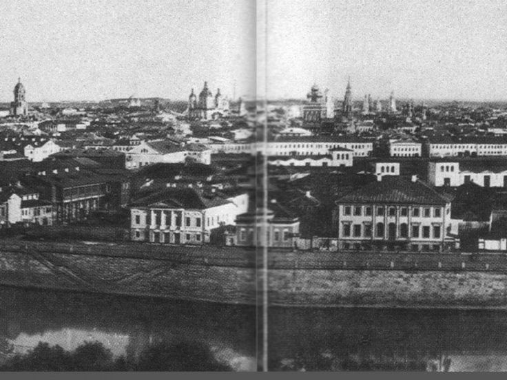 One of the first panoramas of Moscow.