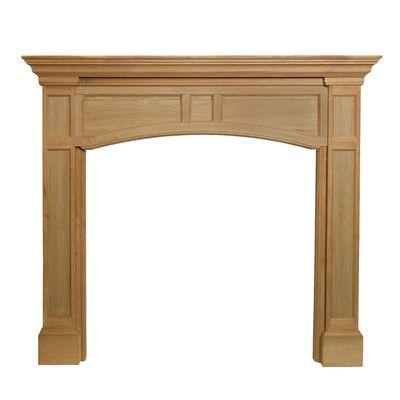 "Pearl Mantels The Vance Fireplace Mantel Surround Finish: Unfinished, Shelf Length: 78.5"" 160-56"