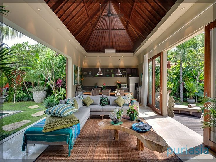 472 best bali interior design images on pinterest design for Tropical house plans with courtyards