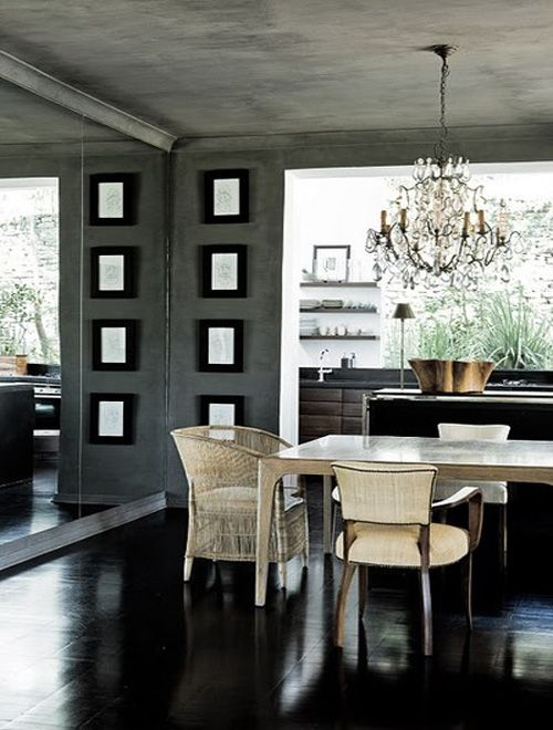 Florida Designer Dining Rooms Dark Floors