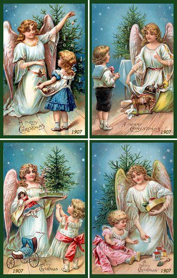 Fabric Panels - Christmas Angels Set 1 Packet contains four pre-printed images plus the pattern to create a wall quilt using them. The images on Christmas Angels Set 1 are derived...