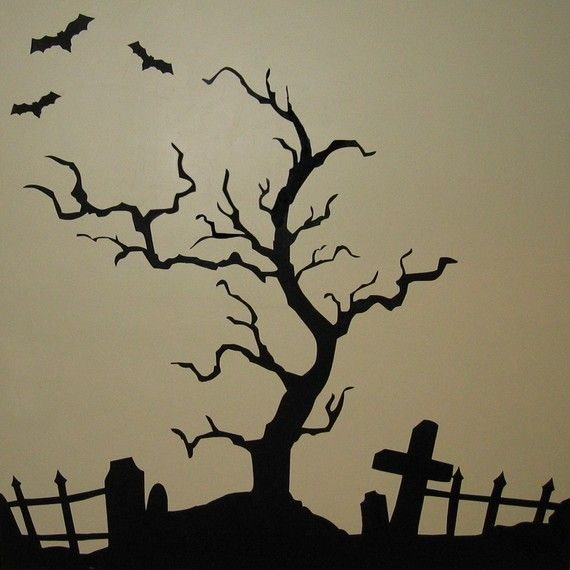 how to draw a scary cemetery youtube with how to draw a scary tree