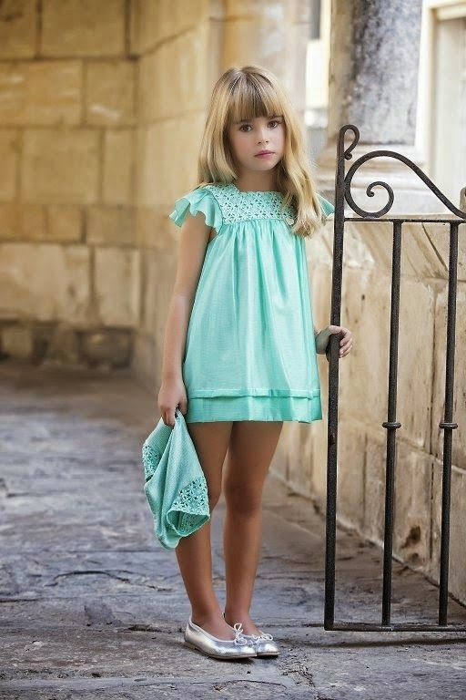 ⭐️AMAYA Moda Infantil Primavera/Verano 2015⭐️        verde +plata