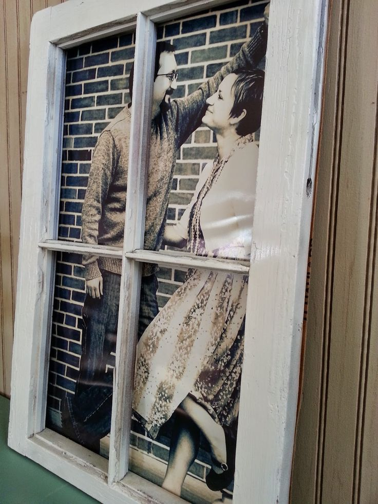 Reclaim, Renew, Remodel: Whatever Wednesday: Poster Print Couples Photo and an Antique Window Frame