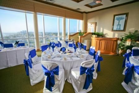 Sunset Terrace Ballroom at the Lido Beach Resort in Sarasota, Florida features floor to ceiling windows with views of The Gulf of Mexico and the Sarasota Bay  www.facebook.com/lidobeachresortweddings