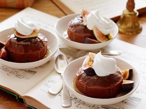Get Warm Sticky Figgy Pudding Recipe from Food Network