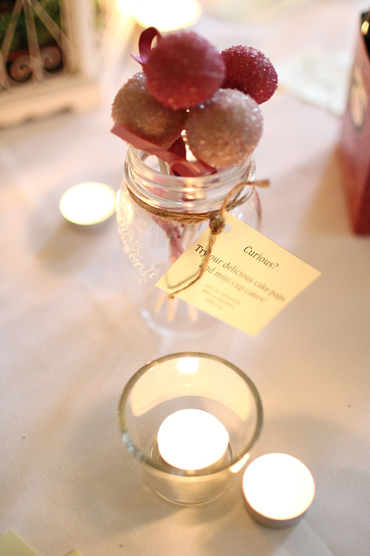 Cake pops and little bottles of delicious wine - perfect for picnics, parties or any occasion.