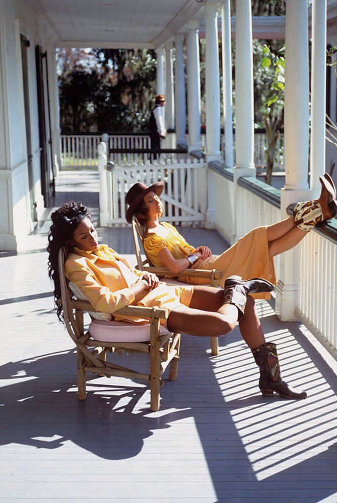 Naomi Campbell and Christy Turlington in New Orleans. Photographed by Arthur Elgort, Vogue, February 1992.
