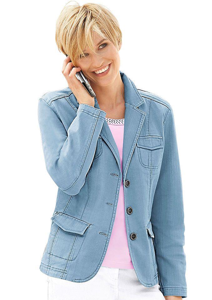 Collection L. Blazer in Jeans-Optik Jetzt bestellen unter: https://mode.ladendirekt.de/damen/bekleidung/blazer/sonstige-blazer/?uid=24dc1aca-7091-5543-9d71-d37e391e1011&utm_source=pinterest&utm_medium=pin&utm_campaign=boards #sonstigeblazer #mäntel #blazer #bekleidung