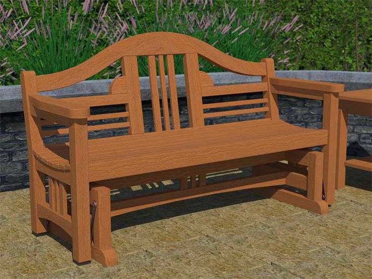 18 best images about glider bench plans on pinterest for D i y garden bench designs