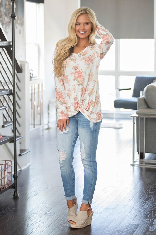 Down A Country Lane Floral Blouse - The Pink Lily