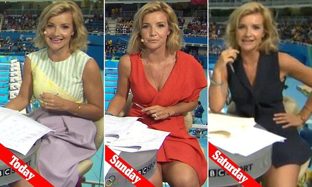How pathetic are these people ? A woman with legs DA DA DAHHHHHH ! Demure Helen Skelton covers up in below-the-knee purple skirt