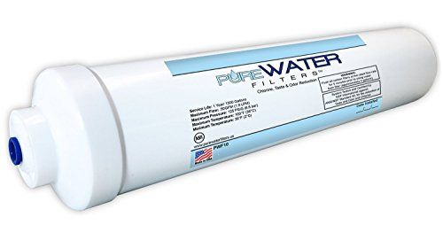"Inline Water Filter For Refrigerators, Ice Makers, Coffee Makers, Water Fountains, Water Coolers, Sink Faucets, RV, Campers, and Boats - with 1/4"" Quick-Connect Fittings Visit http://recipehen.com/inline-water-filter-for-refrigerators-ice-makers-coffee-makers-water-fountains-water-coolers-sink-faucets-rv-campers-and-boats-with-14-quick-connect-fittings/"