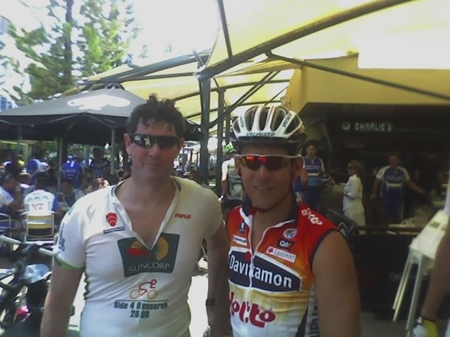 Robbie McEwen - cyclist. Fastest Australian on wheels and a green jersey to prove it. Health Celebrities with Cameron Corish.