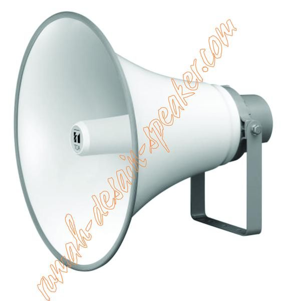 TOA Horn Speaker ZH-5025B, Daya 25 Watt Speaker Low Impedansi (16 ohm) tidak menggunakan Matching Trafo. Suara jernih dan awet. Pemasangan cocok untuk di menara Masjid/Musholla, lapangan, sekolah dll. 4 buah ZH-5025B (25 Watt) cukup memakai amplifier 120W model ZA-2120, pemasangan kabel dengan kombinasi seri-paralel.  Specifications: Rated Input Selection/Impedance : 25W (16) Sound Pressure Level : 117dB (1W/1m) Frequency Response : 200 ~ 6.500 kHz Dimensions (xD) : 550 x 477mm Weight…