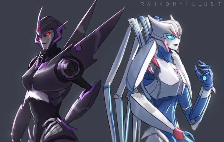 Shattered Glass Arcee and Airachnid by Raikoh-illust on DeviantArt