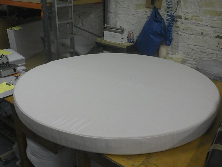 Superior Round, Large And Very Thick Foam Cushion Upholstered In Sunbrella Canvas.  We Can Cut