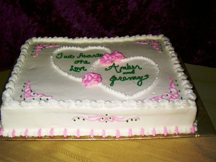 Sheet Cake Designs For Wedding : Double Hearts shower cake (2) Bridal Shower Cakes ...