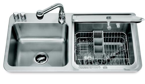 kitchenaid dishwasher in sink | The KitchenAid stainless steel briva in-sink dishwasher offers the ...