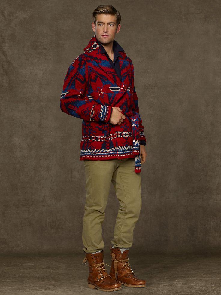 Wool Shawl-Collar Cardigan - Cardigan & Full-Zip  Sweaters - RalphLauren.com