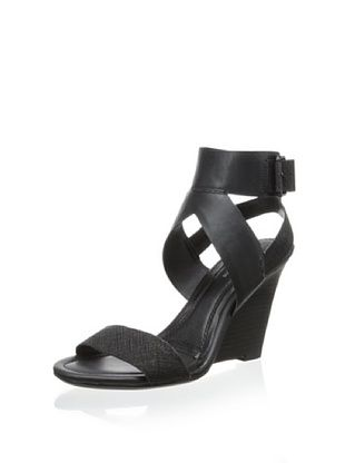 40% OFF Calvin Klein Jeans Women's Maisi Ankle Strap Sandal (Black)
