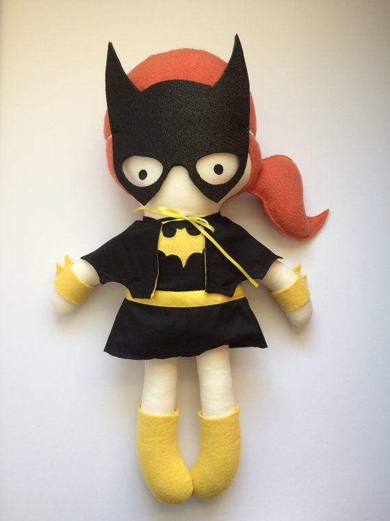 Batichica - hecha a mano muñeca - muñeca de trapo muñeca - Geek - cómic - cultura Pop Doll - Fangirl