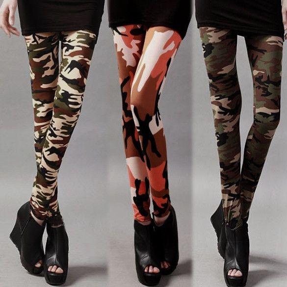 New Fashion New Fashion Womens Camouflage Print Legging Tight Pants 3 Colors