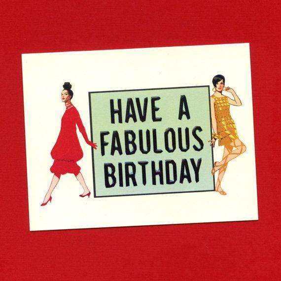 Cute Birthday Card  HAVE A FABULOUS Birthday  by seasandpeas