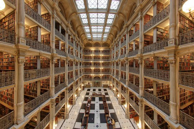 "Maybe you visited the George Peabody Library at Johns Hopkins University in Baltimore and pretended you were Belle in ""Beauty and the Beast."" 