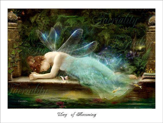 Fairy Art   Charlotte Bird  ' Day of by CharlotteBirdfairies, $32.00