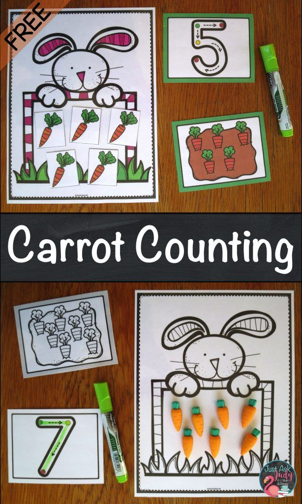 Use this free carrot counting activity with your p…