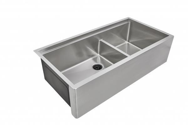 A Front Ledge Sink Double Bowl
