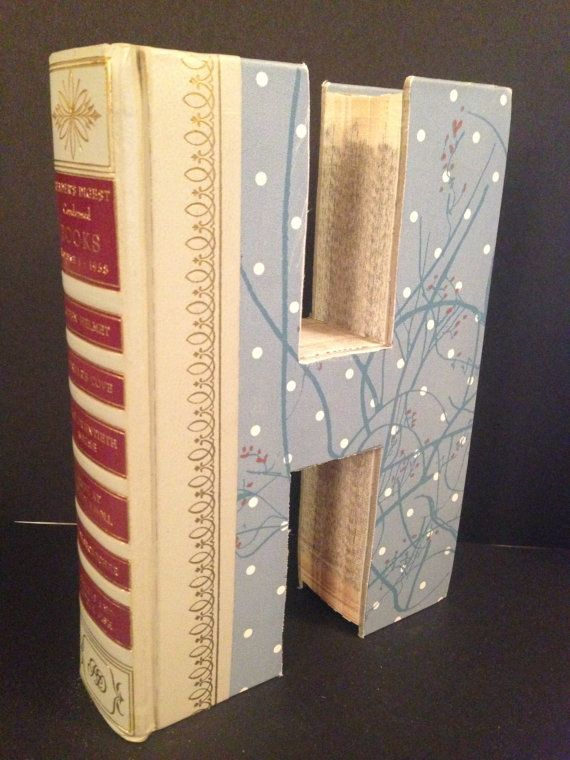 8 best books cut into letters images on pinterest book letters readers digest letter h alphabet book handmade bookend initial just like anthropologie spiritdancerdesigns Images