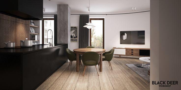 BLACK DEER WORKSHOP Powisle_apartment 2