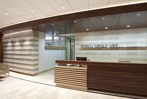 "Visually paramount to the design is the bold ""bumble bee"" stripe carried throughout the millwork and reinvented more subtly int eh flooring and feature ceiling in the boardroom."