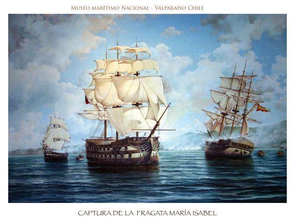 Captura de la fragata Maria Isabel by delacruz-art on DeviantArt