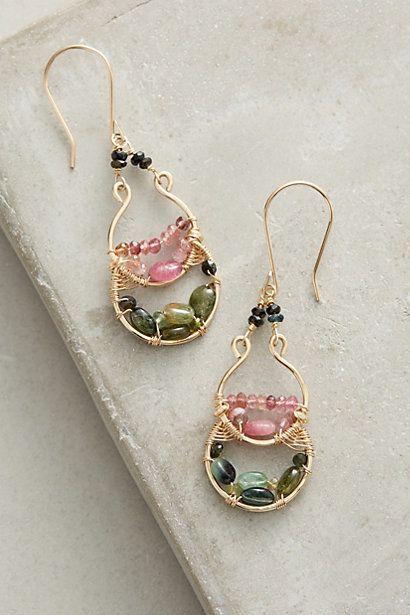 Berry Treasure Earrings #anthropologie