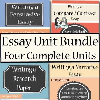 Essay Writing Bundle $